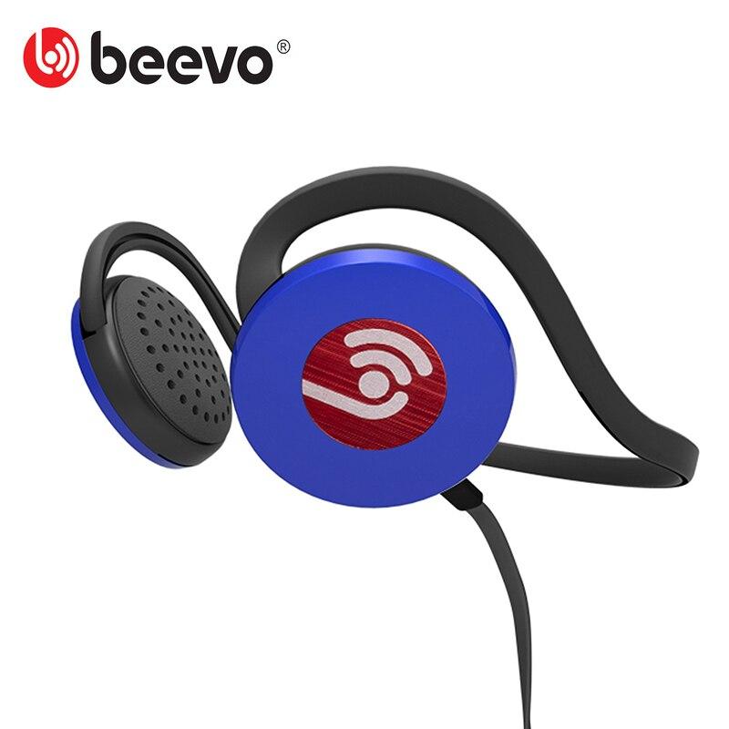 2016 Beevo HM720 Sport Casque tour de Cou Portable Fonctionnant Casque avec Crochet Microphone HD Basse Stéréo Musique pour iPhone/Andriod