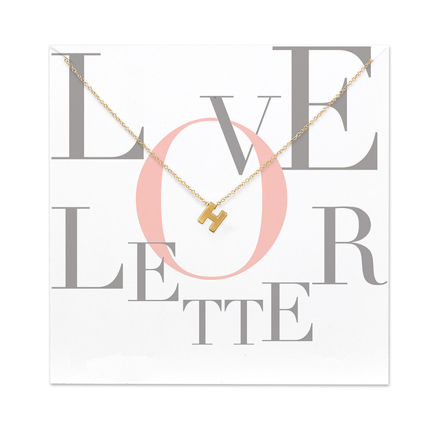 12pcs Have Card Fashion Jewelry 26 Word Alphabet Love Letter A B C D E F G H I J K L M N Z Pendant Necklace For Women