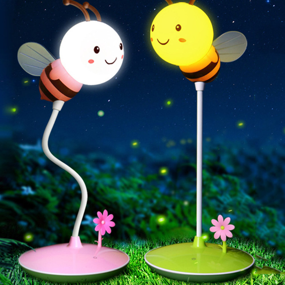100% Brand New High Quality Modern Bumble Bee Light In Yellow/pink For Any Boy Or Girl Bedroom Drop Shipping Agreeable To Taste