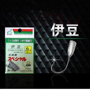 Image 1 - Japão gancho invertido titânio tungstênio farpado fishhook estanho gabarito cabeça suporte ganchos