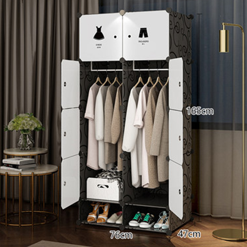 Meubles de rangement de chambre à coucher lorsque le quart armoire bricolage Non-tissé pli Portable armoire de rangement chambre meubles armoire