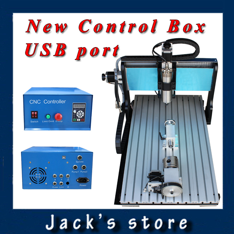 USB port,6040Z-SS++(4aixs),1500W Spindle+2.2kw VFD CNC6040 CNC Router water-cooling Metal engraving machine cnc machine,CNC 6040 cnc 5axis a aixs rotary axis t chuck type for cnc router cnc milling machine best quality