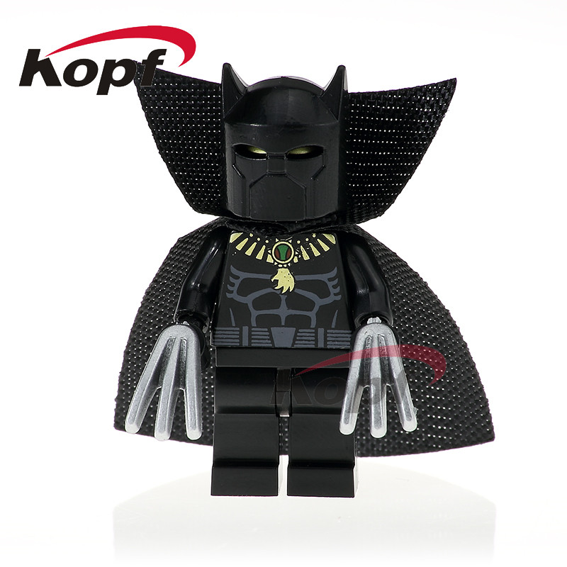 Single Sale PG371 Super Heroes X-Men Black Panther Clayface Flash Cowboys America Building Blocks Christmas Toys for Children single sale super heroes colle black adam sharon carter dick grayson green lantern shazam building blocks children toys kl9005