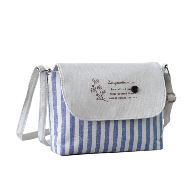 Bao Fashion Fresh Fl S Shoulder Bags Female Handbag Canvas Small Crossbody Bag For Women
