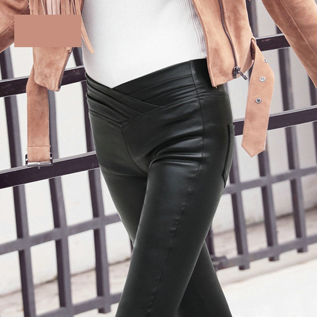 new arrived Black Pu Leather Leggings Pants Women Leggings Winter Leather Trousers Women Casual Pencil Pants Autumn Winter Pants