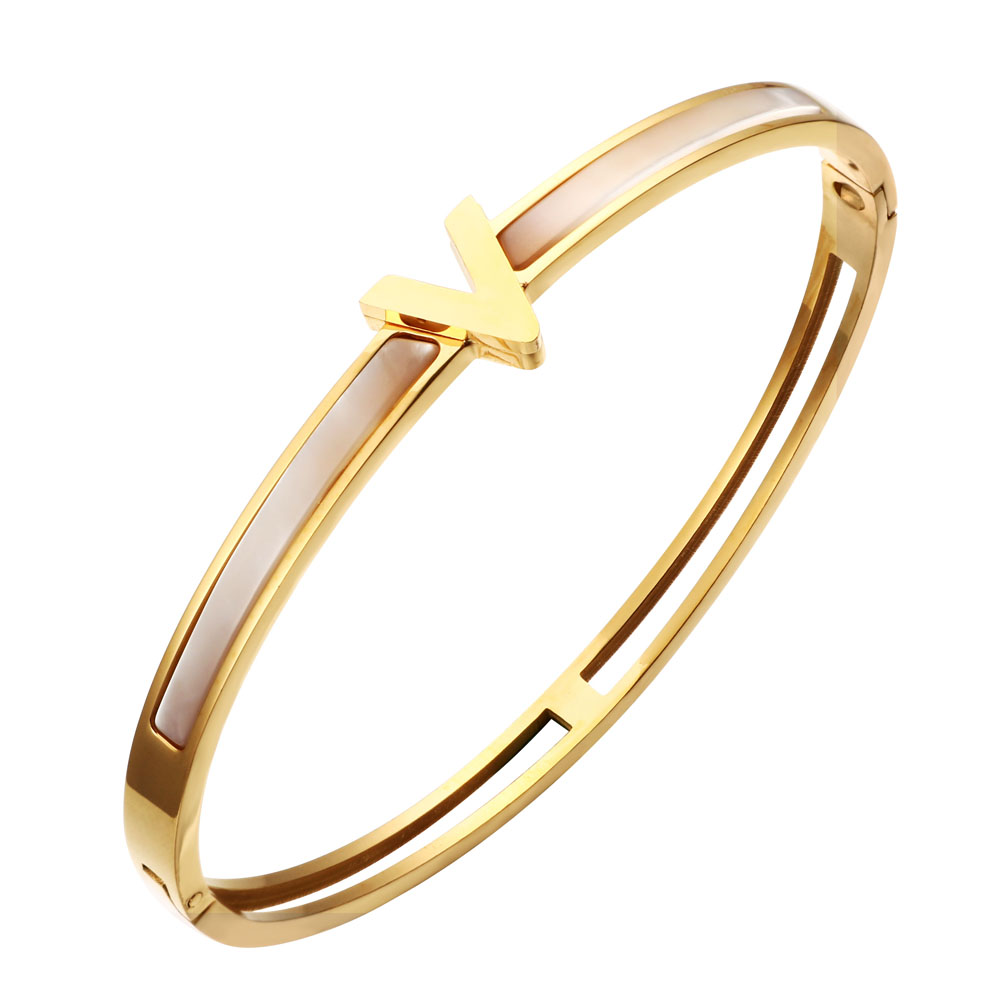 bangle zirconia tone kors gold heart michael ladies rose context cubic large bangles p