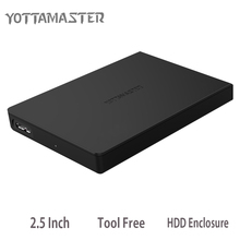 Yottamaster H2512 2.5 Inch USB3.0 To SATA3.0 6Gbps HDD Case Tool Free Hard Disk Box 7mm/9.5mm Support 2TB UASP Protocol for PC