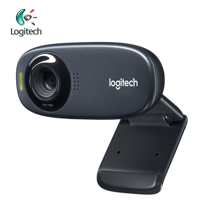 Logitech C310 Webcam Built-in MIC HD 720P with 5MP Photos Auto Focus Support Official Inspection for PC Notebook 100% anc jianying 1080p hd video webcam built in mic for pc laptop mac