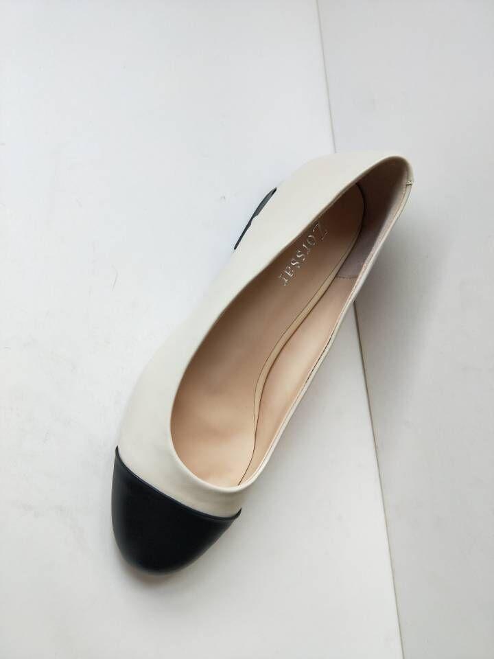 43 Pie negro Del Tacón De Dama Trabajo Perlas Para Mujeres {zorssar} Bombas Moda 33 En Antideslizante Alto Redondo Zapatos Dedo Tamaño Beige Gran Mujer Bajo WSaBZqZw