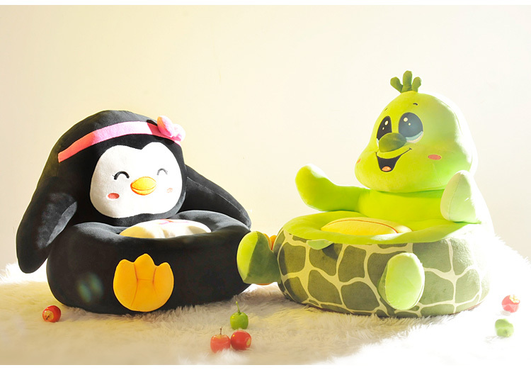 cartoon sofa chair. New Creative Plush Toys Child Sofa Chair Small Chairs Cartoon Animal Cute Baby Single -in Stuffed \u0026 Animals