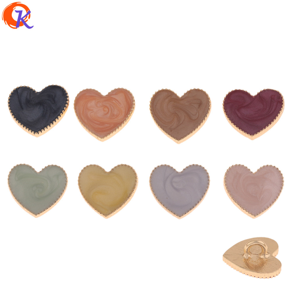 Cordial Design 50Pcs 15*17MM Hair Jewelry Accessories/DIY Jewelry Making/Heart Shape/Hand Made/Jewelry Findings Component(China)