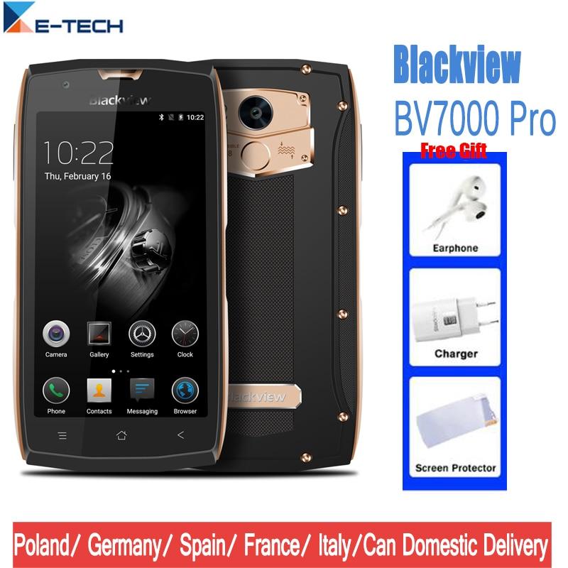 Blackview BV7000 Pro Smartphone IP68 Impermeabile Android Octa Core 5.0 pollice 4 gb di RAM 64 gb ROM di Impronte Digitali 4g telefoni cellulari Celular