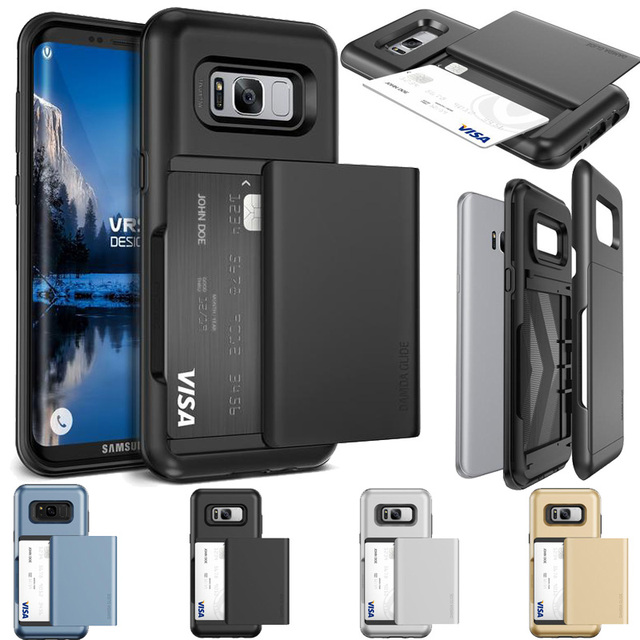 best authentic b8d1d 514fb US $25.99 |Original VERUS For Samsung Galaxy S8 / S8 Plus Case Rugged Armor  Hybrid Semi Automatic Card Slot Wallet Cover Cases VRS Design-in ...