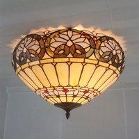 16 дюймовый Прямая продажа с фабрики Континентальный Тиффани потолок лампы гостиная, спальня освещение прихожей Ретро Art Освещение Витражи