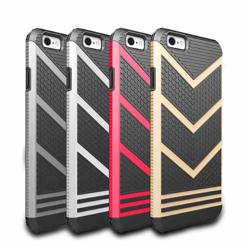 ITEUU V-shaped Armor Case for iphone 6 6S Plus Cases Shockproof Tough Back Cover Shell for iPhone 6 6S 6Plus 6SPlus