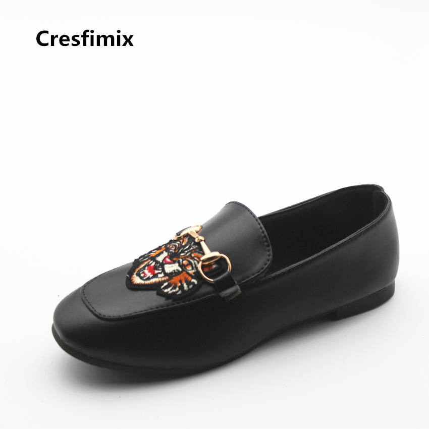 Cresfimix chaussures plates pour femmes women fashion soft pu leather flat shoes lady casual tiger print spring & summer loafers cresfimix women fashion