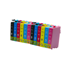 Compatible Ink Cartridges T0821 For Epson t0821 inkjet printer ink cartridge 12pcs with chip high quality cartridges for epson auto reset chip decoder for epson 7800 9800 inkjet printer cartridge
