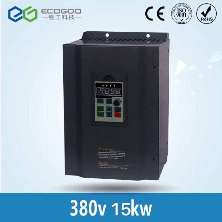 380 V 15KW VFD de alto rendimiento AC a AC inversor de frecuencia Variable de tres fase
