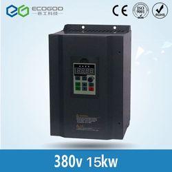 380 V 15KW VFD o wysokiej wydajności AC do AC przemiennik częstotliwości trzy fazy w Przemienniki i przetworniki od Majsterkowanie na