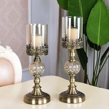 цена на Luxury Nordic candle holder candelabros decorativos de velas candlestick wedding decoration centerpiece candles home decoration