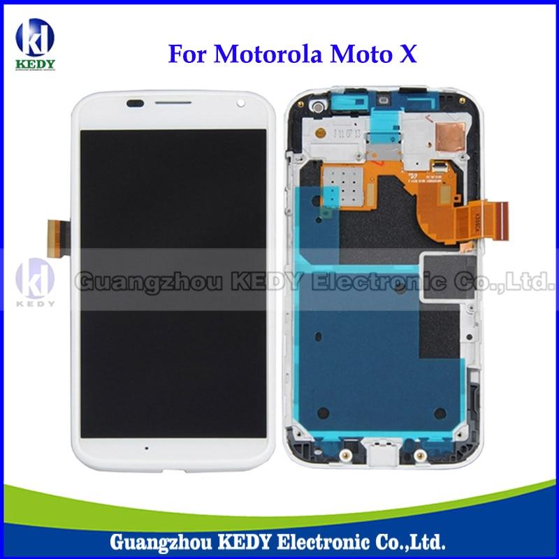 ФОТО 10pcs New Original LCD Digitizer Screen Assembly For Motorola Moto X XT1058 XT1060 XT1053 4.7