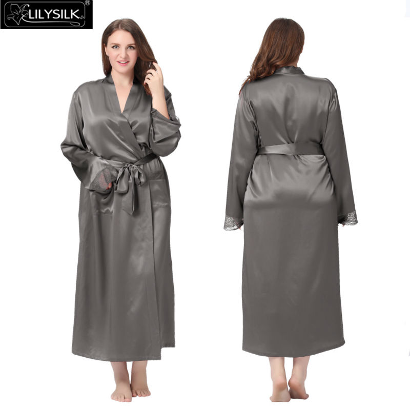 1000-dark-gray-22-momme-lacey-cuff-full-silk-robe-plus-size-01