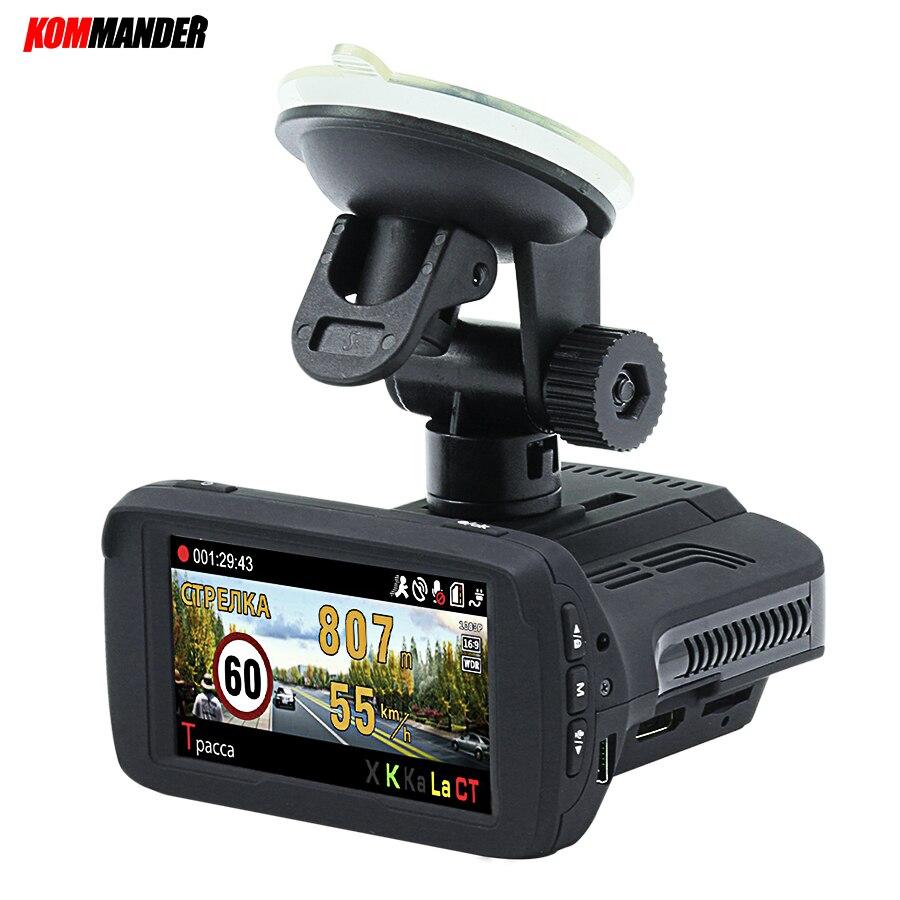 Kommander Ambarella A7LA50 Car font b Camera b font Car Dvr Radar Detector built in GPS