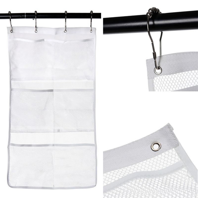 Quick Dry Hanging Caddy Bath Shower Organizer with 6 pocket Hang on ...
