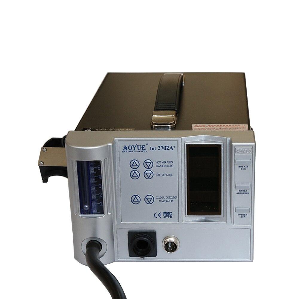 220V Lead Free Repairing system, soldering desoldering station of Aoyue 2702A+ ,Hot Air gun +Desoldering gun 220v lead free repairing system desoldering station of aoyue 2702a hot air gun desoldering gun