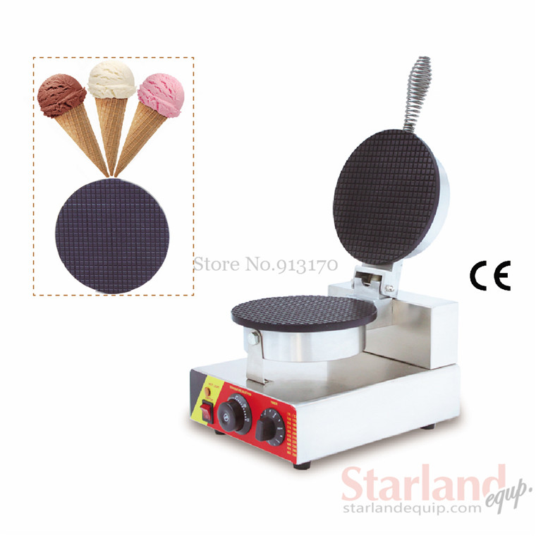 Single Head Crispy Waffle Maker Stainless Steel Ice Cream Cone Baker for Ice Cream Cone Making