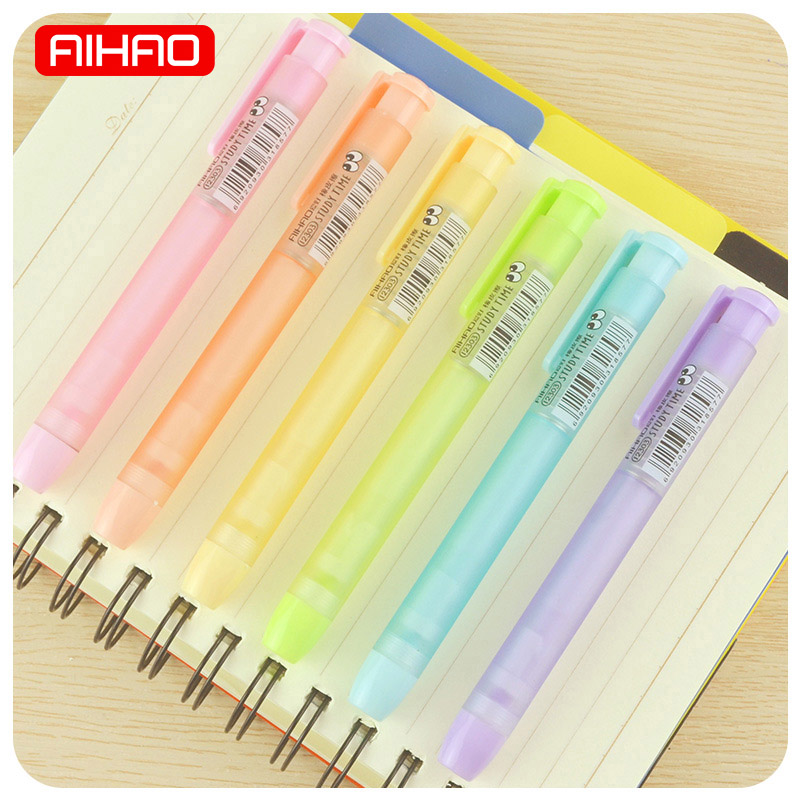 AIHAO Student Cute Frosted Mechanical Pencil Erasers Kawaii Transparent Candy Color Rubbers Gift Korean Stationery 1107