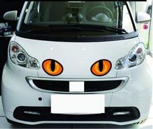 10 x 8CM 1 pair simulation cat eyes car sticker 3d vinyl decals head engine cover rearview mirror decoration scratch Sticker