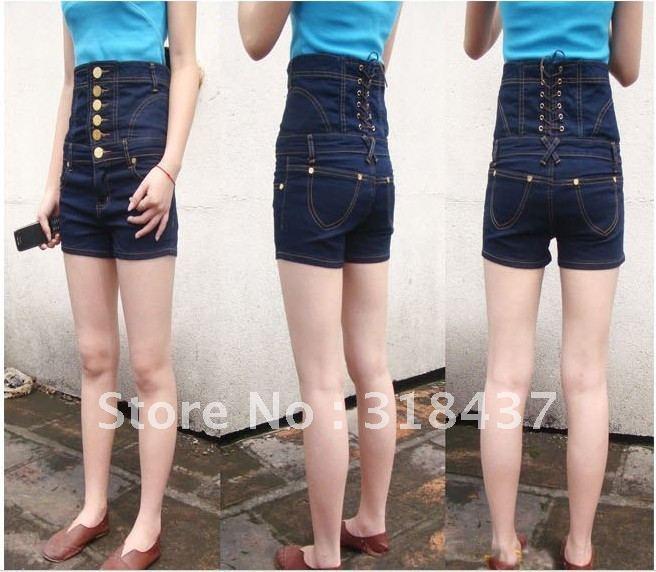 4 button high waisted shorts