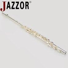 JAZZOR flûte JBFL-6248S C plat 16 trou fermé blanc-cuivre argent plaqué flûte instrument à vent