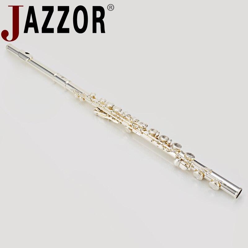 Jazzor Флейта jbfl 6248s c без каблука 16 Закрытая отверстие белый Посеребренная медь Флейта духовой инструмент