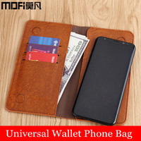MOFi Universal Flip Phone Pouch Wallet Case With Card Pocket Bag For IPhone 8 Samsung S8