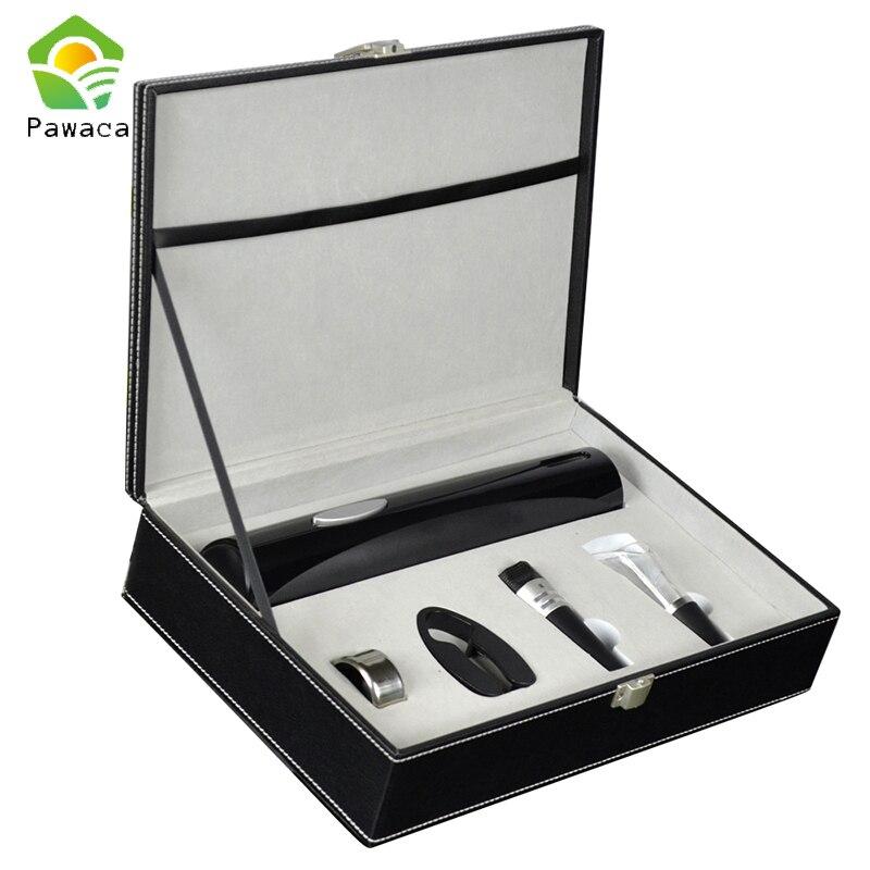 Pawaca 4 unids/set vino eléctrica sin cuerda sacacorchos extraíble cortador de papel vacío botella Pourer vino abridor herramienta