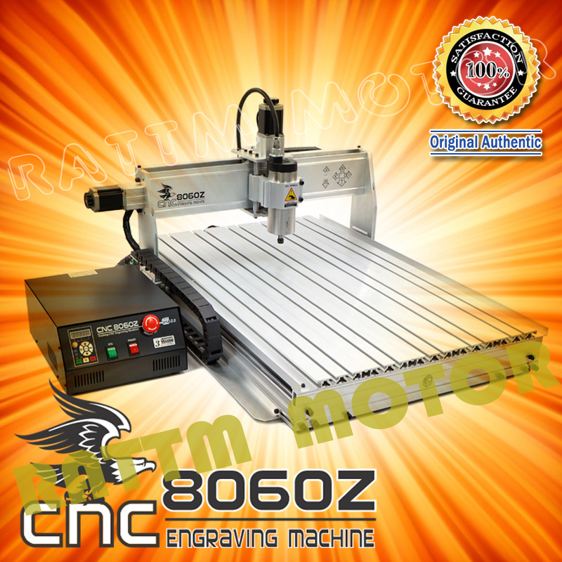 CNC 8060 3 axis 1500W USB MACH3 CNC ROUTER ENGRAVER/ENGRAVING DRILLING AND MILLING MACHINE 110/220VAC eur free tax cnc 6040z frame of engraving and milling machine for diy cnc router