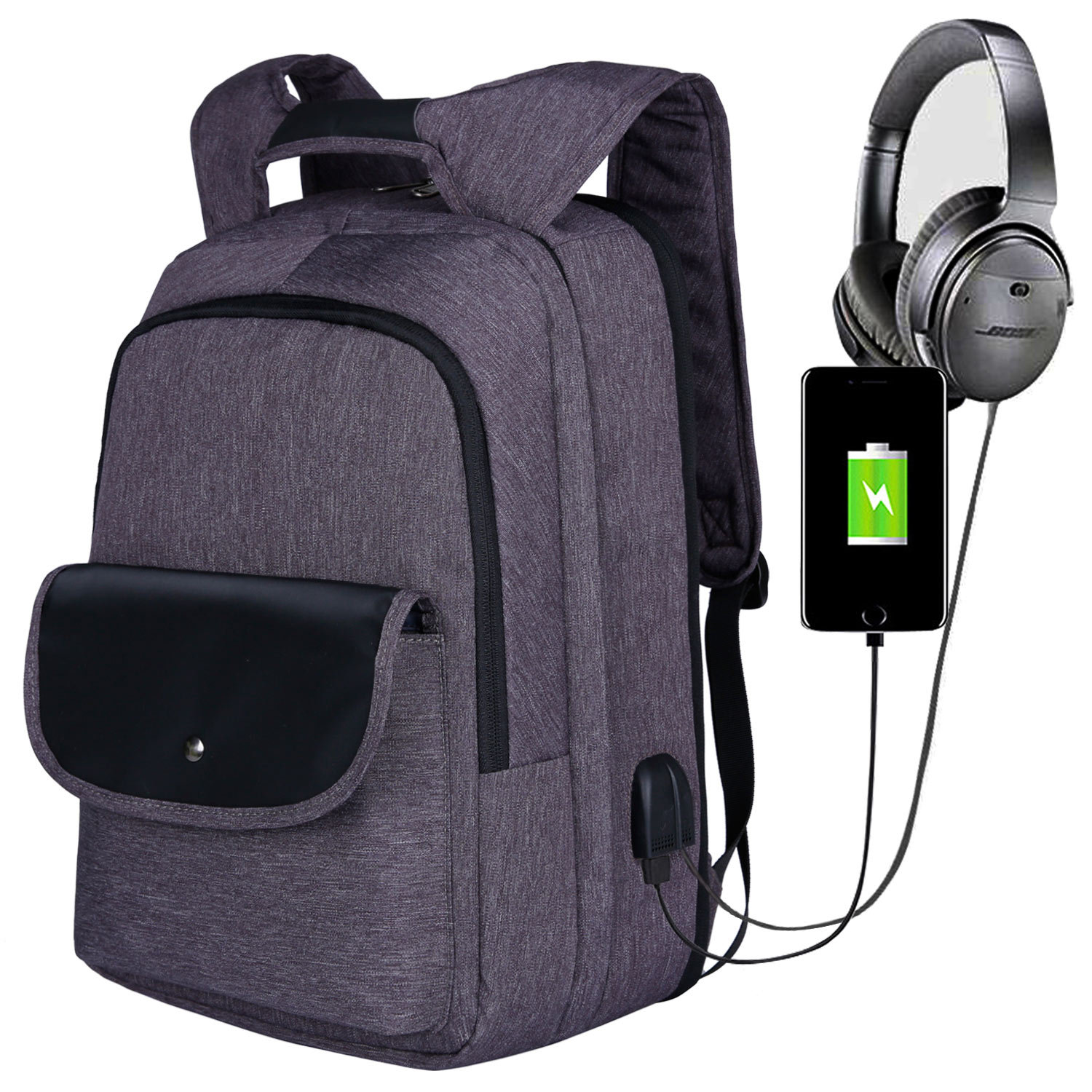New Anti-theft Detachable Large Capacity USB Business Computer Backpack College Schoolbag Men Student 17.3 Inch Laptop Backpack new 3u ultra short computer case 380mm large panel big power supply ultra short 3u computer case server computer case