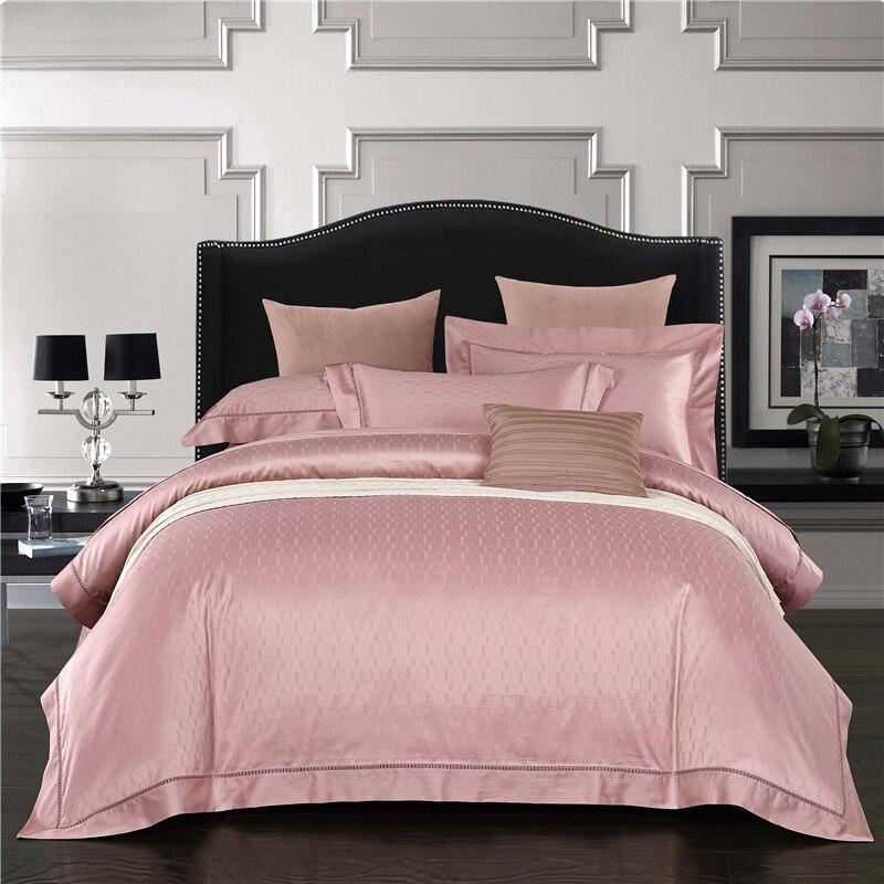 4Pcs High TC Egypt Cotton Jacquard Classic Bedding Set Luxury Hollow Duvet cover set Bed Sheet Pillowcases Queen King Size