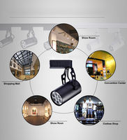 18W Black Shell LED Rail Track Ceiling Spot Light Lamp Cabinet Pure Warm White Commercial Lighting