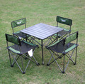 Outdoor folding tables and chairs leisure beach picnic mini tables and chairs suits