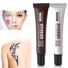 2 Pcs Concealer Cream Tattoo Cover Up Set Professional Waterproof Total Coverage Birthmarks Spot Scar Kit