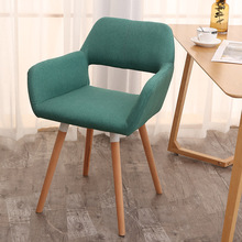 Solid Wood Family Restaurant Chair Modern Minimalist Computer Back-to-back Study Nordic Lazy Casual Furniture