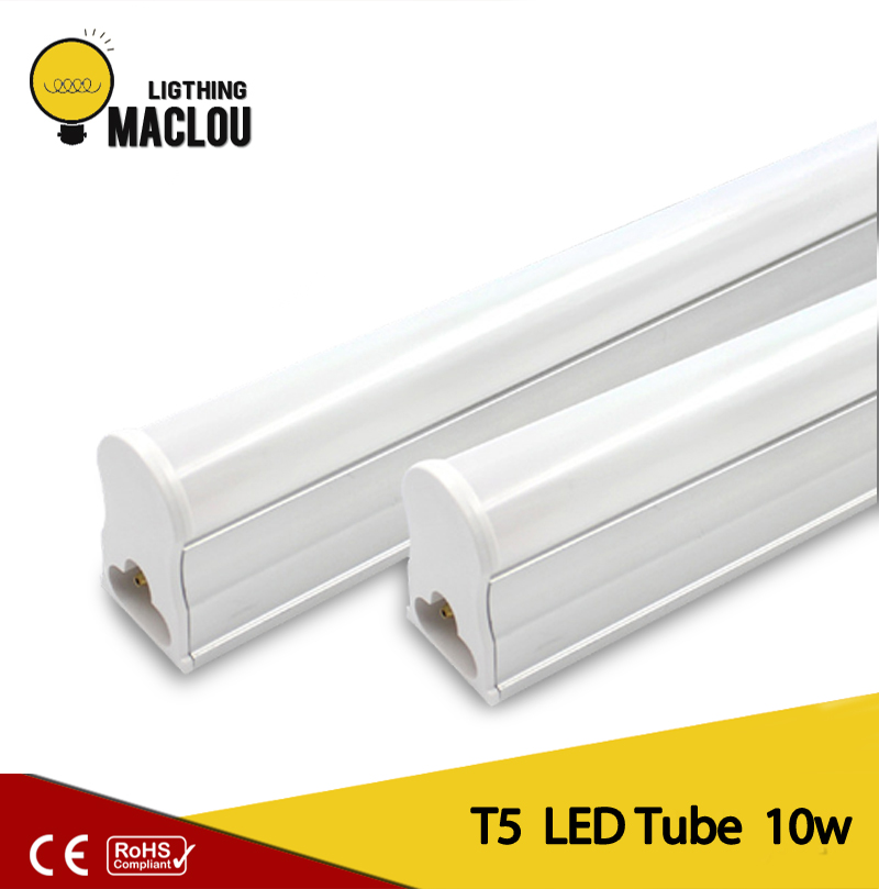 10W T5 LED Light Tube Bulb Bar Light 3528 SMD 60cm Living room Fluorescent Tube Lamp warm white& cold white AC165-265V t5 3528 0 15w 8lm white light 2 led car