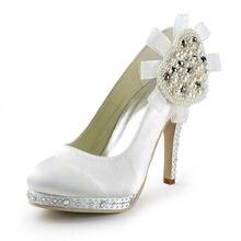 Perlen blume satin runde kappe niedrigen high heels plattform pumpt dame schuhe der klassischen brautkleid pumpen brautjungfer stilettos RR-107 YY