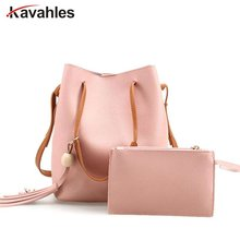 Bucket Women Composite Bag 2PCS Set Designer Handbags High Quality Leather Shoulder Crossbody Bags For Women