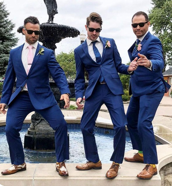 Latest Coat Pant Designs Royal Blue Men Suits Groom Wedding Suits For Men Formal Tuxedo Groomsmen Bridegroom Suits Costume Homme