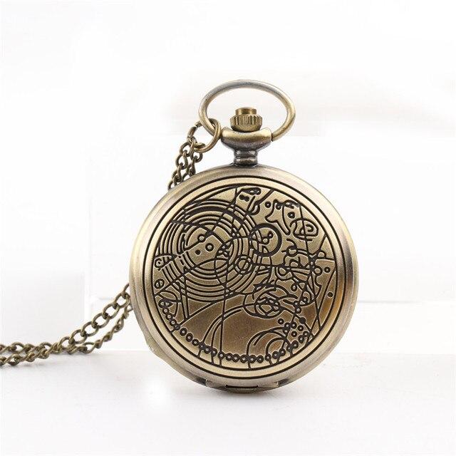 Cindiry Brand Vintage Bronze Doctor Quartz Pocket Watch Fashion Who Style Best G