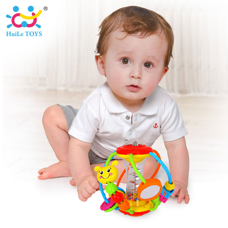 HUILE TOYS Baby Toys Ball 929 Baby Rattles Educational Toys for Babies Grasping Ball Puzzle Multifunction Bell Ball 0-18 Months